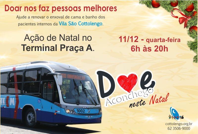 Ação de Natal da Vila São Cottolengo no Terminal Praça A