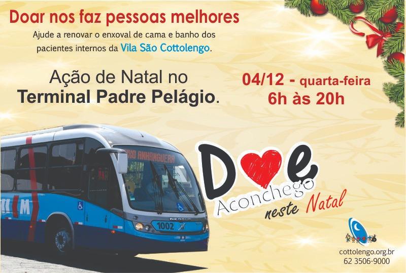 Cartaz sobre ação de natal da vila são cottolengo